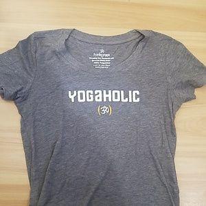 Tops - Yogaholic gray tee